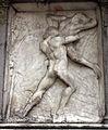 Giovanni antonio amadeo, facciata della cappella colleoni, 1472-75, storie di ercole 05 anteo 1.JPG