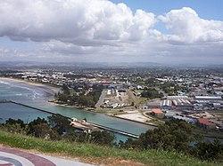 Coastal suburbs of Gisborne viewed from Kaiti hill