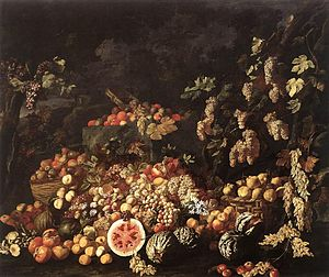 Giuseppe Recco - Still-Life with Fruit and Flowers