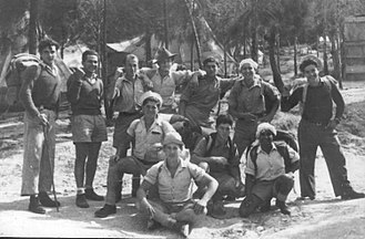 Givat Brenner - Members of Company H, Palmach, in Giv'at Brenner, 1945