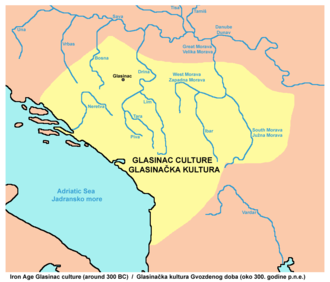 Early history of Bosnia and Herzegovina - Iron Age Glasinac culture (around 300 BC).