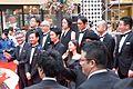 Godzilla Resurgence World Premiere Red Carpet- Hasegawa Hiroki, Takenouchi Yutaka, Ishihara Satomi, Kora Kengo, Matsuo Satoru, Ichikawa Mikako, Osugi Ren, Tsukamoto Shinya, Anno Hideaki, Higuchi Shinji & Onoue Katsuro (27988937893).jpg