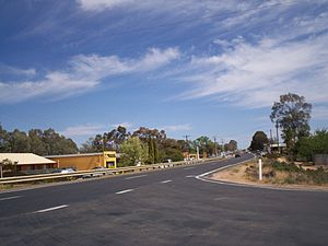 Gol Gol, New South Wales - The Sturt Highway, passing through Gol Gol