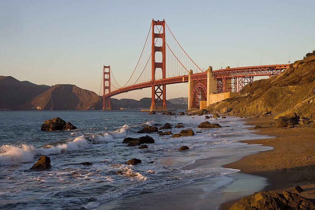 GoldenGateBridge BakerBeach MC - babymoon on a budget