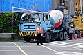 Goldsun Development Cement Mixer Truck Parked beside Building Construction Site in Lane 180, Jiankang Road 20150401.jpg