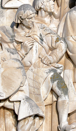 Gomes Eanes de Zurara - Effigy of Gomes Eanes de Zurara in the Monument to the Discoveries, in Lisbon, Portugal.