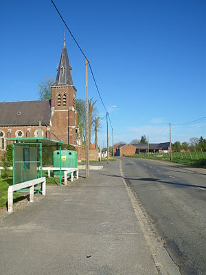 Gommecourt, Pas-de-Calais - The main road of Gommecourt