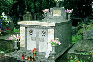Pope John Paul II - The tomb of the parents of John Paul II at Rakowicki Cemetery in Kraków, Poland