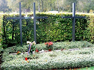 Sophie Scholl - Grave of Hans Scholl, Sophie Scholl, and Christoph Probst, in the Perlacher Friedhof, next to the Stadelheim prison in Munich