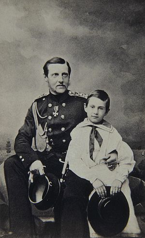 Grand Duke Konstantin Nikolayevich of Russia - Grand Duke Konstantin Nikolayevich of Russia and his eldest son Grand Duke Nikolay Konstantinovich