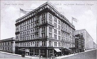 Grand Pacific Hotel (Chicago) - Image: Grand Pacific Hotel 1912