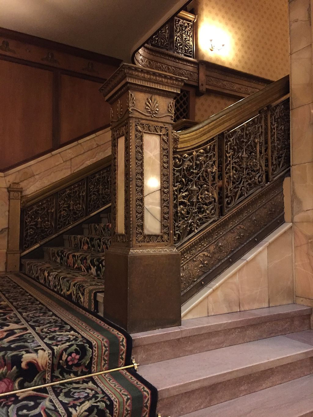 Grand Staircase Detail in Brown Palace Hotel
