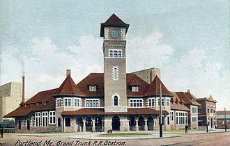 St. Lawrence and Atlantic Railroad - Grand Trunk Station at Portland, Maine built in 1903