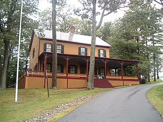 Personal Memoirs of Ulysses S. Grant - The Mt. McGregor retreat now Grant Cottage State Historic Site in Wilton, New York, where Grant completed his memoirs, just before his death.