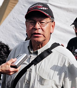 Asubpeeschoseewagong First Nation - Elder Bill Fobister, speaking at a protest at Queen's Park in Toronto