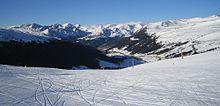Tipico panorama andorrano con monti di 2800 metri circa a Grau Roig, nella parte orientale del Paese