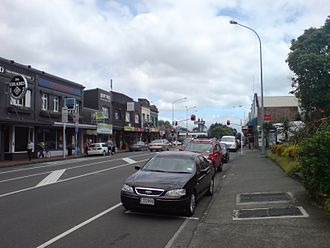 Great South Road, New Zealand - Image: Great South Road South Of Market Road