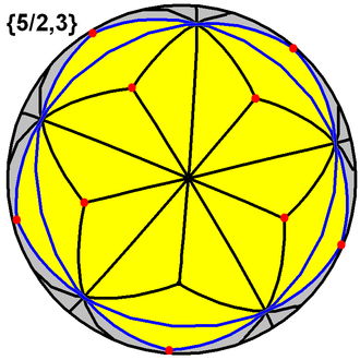 Great stellated dodecahedron - Image: Great stellated dodecahedron tiling