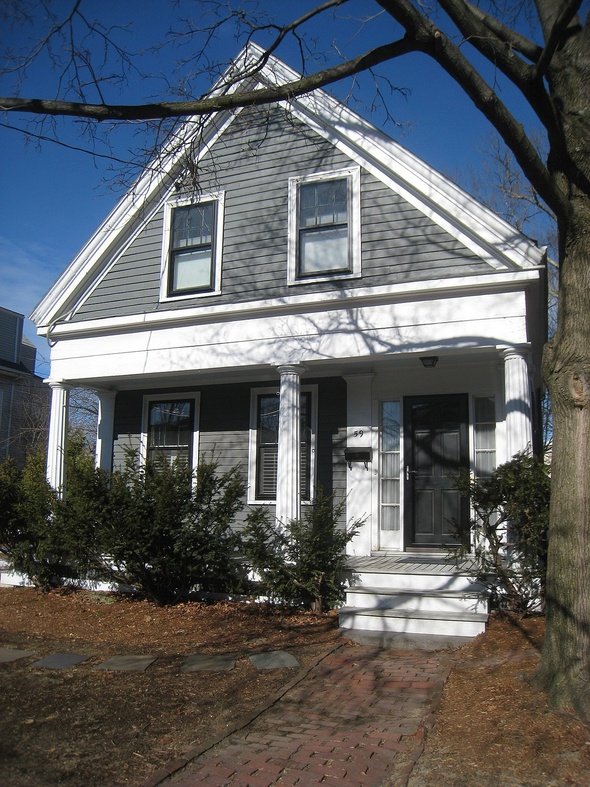 Greek Revival Cottage Cambridge Massachusetts Wikipedia