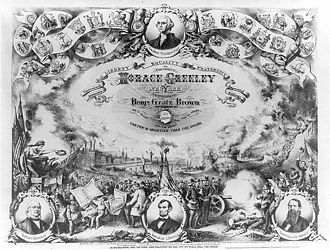 United States presidential election, 1872 - Image: Greeley Brown 1872
