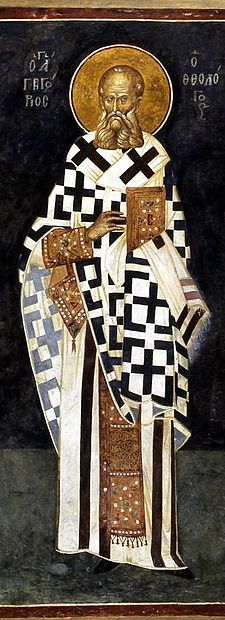 Gregory of Nazianzus presided over part of the Council Gregor-Chora.jpg