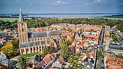 Aerial photography of the historic city of Naarden