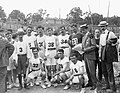 Group of runners in the 1904 Olympic Marathon Race. Greek competitors and Felix Carbajal de Soto of Cuba (-3).jpg