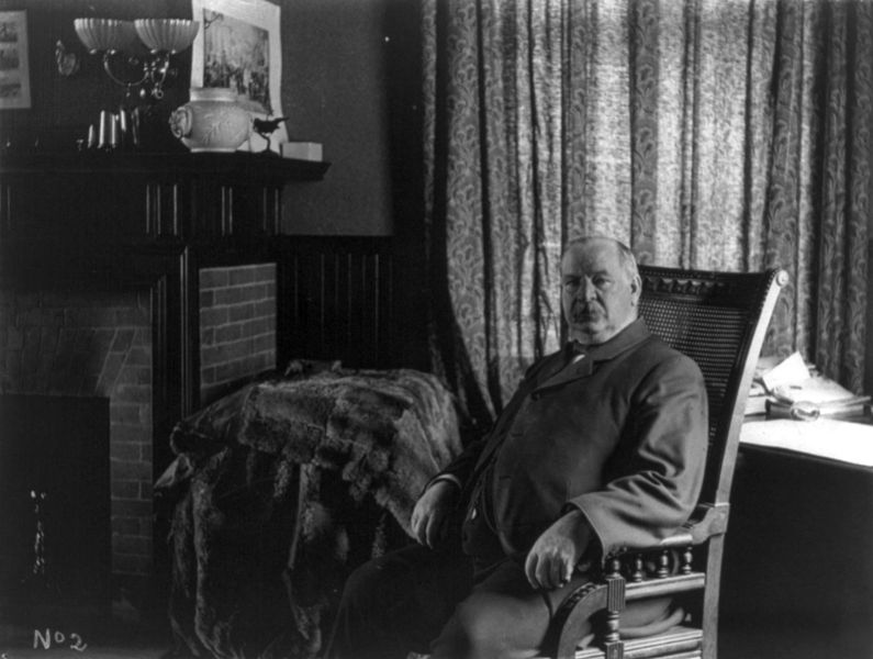 File:Grover Cleveland in his library cph.3b04568.jpg