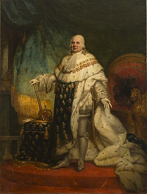 Government of the first Bourbon restoration - Louis XVIII of France by Jean-Baptiste Paulin Guérin