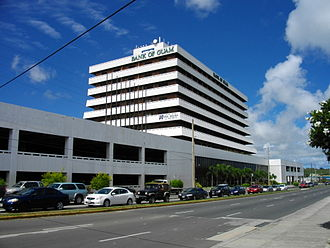 Tamuning, Guam - The Guam International Trade Center (ITC) building at the southwest corner of Marine Corps Drive (Route 1) and Chalan San Antonio (Route 14)