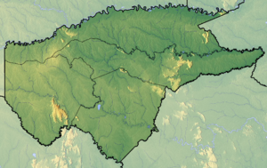 Guaviare Department - Image: Guaviare Topographic 2