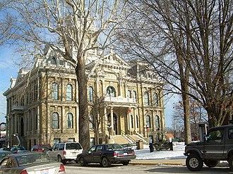 Guernsey County, Ohio - Image: Guernsey County Courthouse Cambridge Ohio