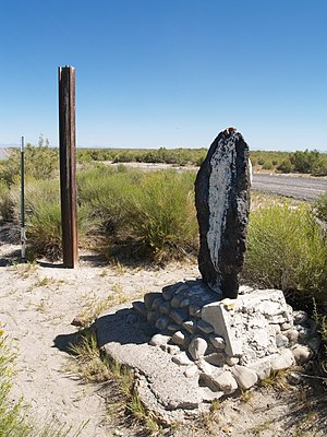 Delta, Utah - Two markers at the Gunnison site, 2008
