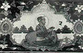 Guru Angad - Fresco of the second Sikh Guru at Goindval