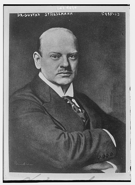 a biography and a brief history of the achievements of stresemann the chancellor of germany in 1923