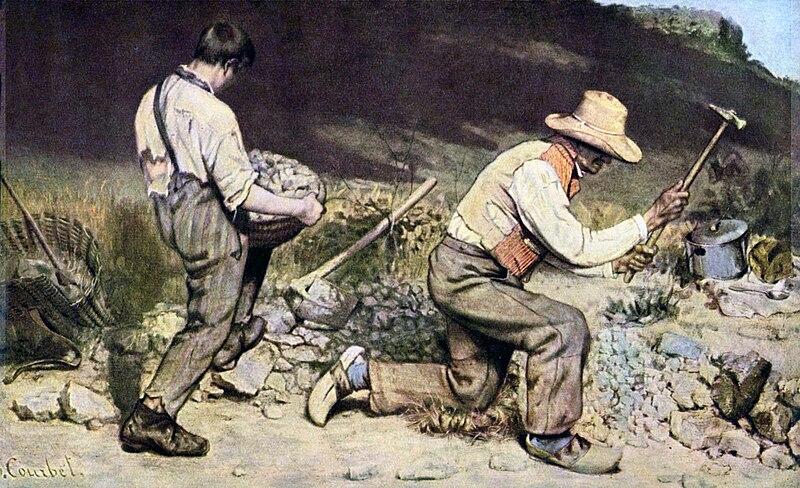G. Courbet, Gli spaccapietre