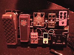 Guthrie Govan - Guthrie Govan's Aristocrats pedalboard (US tour)