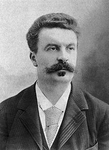 Normandija-Literatura-Guy de Maupassant fotograferad av Félix Nadar 1888