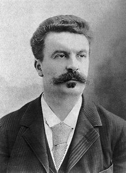 Guy de Maupassant fotograferad av Félix Nadar 1888
