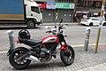 HK 觀塘 Kwun Tong 鴻圖道 Hung To Road November 2017 IX1 Scrambler motorbike parking.jpg