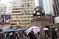 HK CWB 銅鑼灣 Causeway Bay 羅素街 Rusell Street clock tower 勿地臣街 Matheson Street rainy day Nov 2017 IX1.jpg
