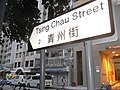 HK Hung Hom Tsing Chau Street 青州街 name sign evening Jan-2013.JPG