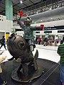 HK Lok Ma Chau MTR Station 落馬洲站 Bauhinia Rider sculpture Chinese Scuptor 蔣朔 Jiang Shuo Bronze statue March 2016 Concourse Level 3 DSC (4).JPG