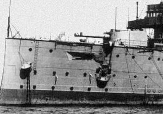 BL 9.2-inch Mk IX – X naval gun - Forward gun on HMS Cressy