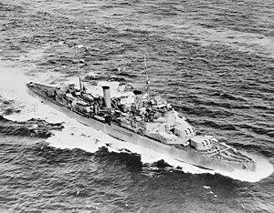 HMS Fiji (58) - Image: HMS FIJI, 28 August 1940 FL13125