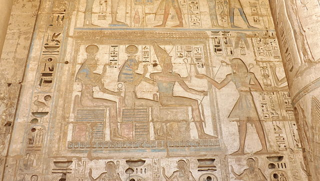 哈布城壁画 via 维基百科
