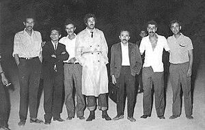 Hadj Abderrahmane - Hadj Abderrahmane and Yahia Benmabrouk in 1974.