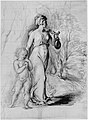 Hagar and Ishmael in the Wilderness (recto); Two Portrait Studies of the Artist's Wife, and a Study of a Leg and Torso (verso) MET 270279.jpg