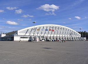 Tampere Ice Stadium - Image: Hakametsä I ulkoa