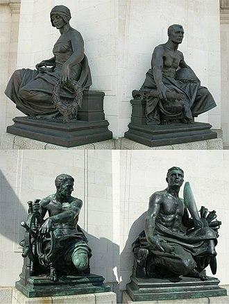 Hall of Memory, Birmingham - Bronze statues by Albert Toft